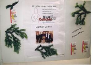 Darstellung der Tözer Coaches am Weihnachtsbasar der BSB